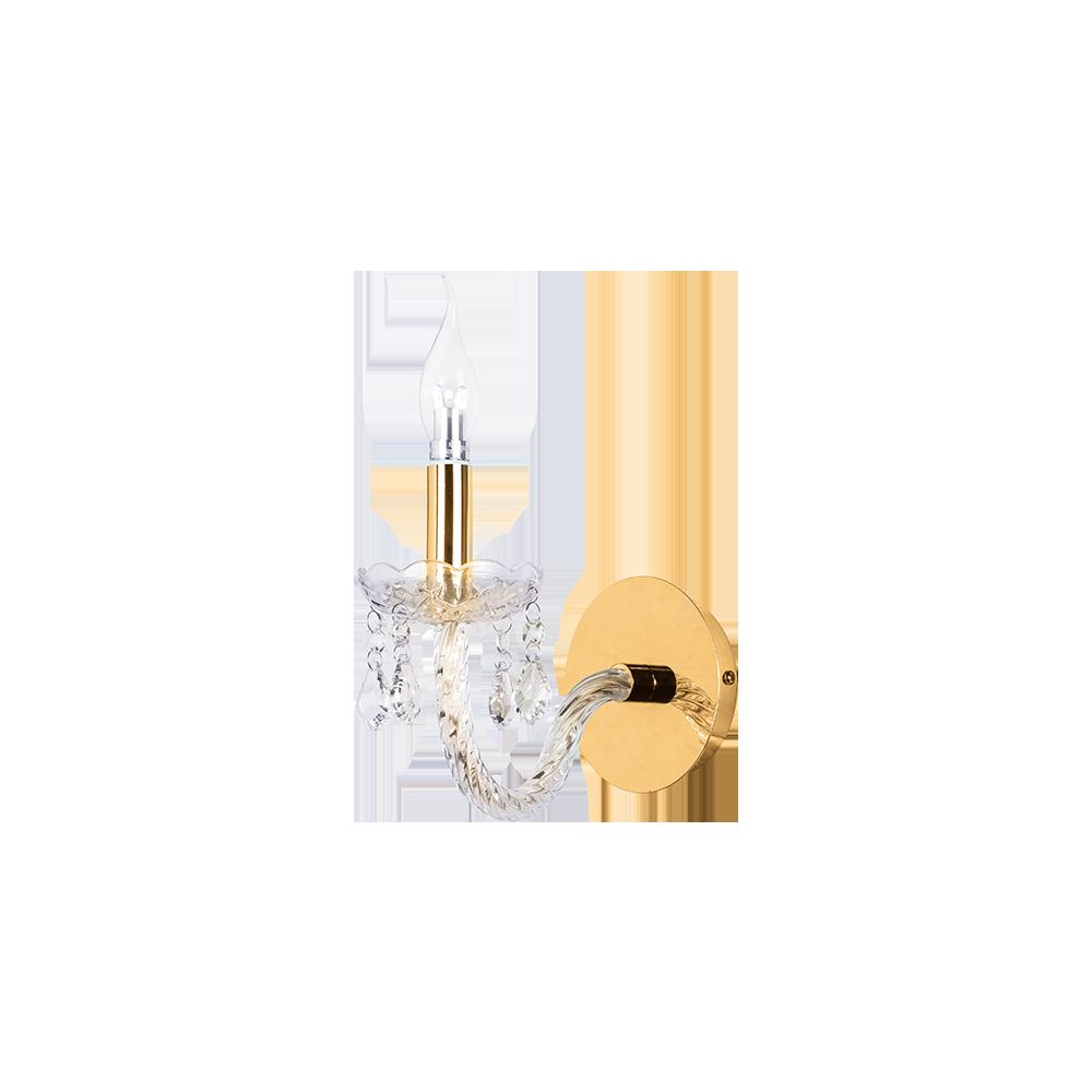 Бра BENETTI Crystal Limpido золото, 1xE14, коллекция CRL-001