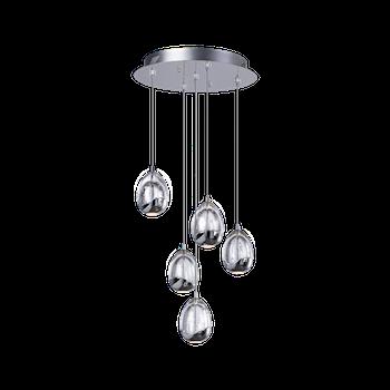 Светодиодный светильник BENETTI Modern Goccia подвесной хром, LED 4,8Вт/5 3000K, 1320 Lm, коллекция MOD-001