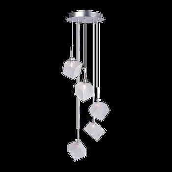 Cветильник BENETTI Modern Kubo подвесной хром, 5хG9, коллекция MOD-031
