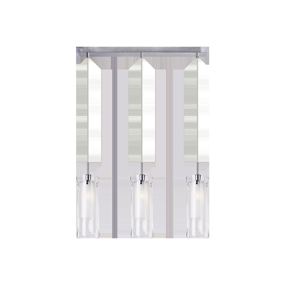 Cветильник BENETTI Modern Foglia подвесной хром, 3хE14, коллекция MOD-035