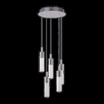 Светильник BENETTI Modern Raggio подвесной хром, 5хMR11, коллекция MOD-046